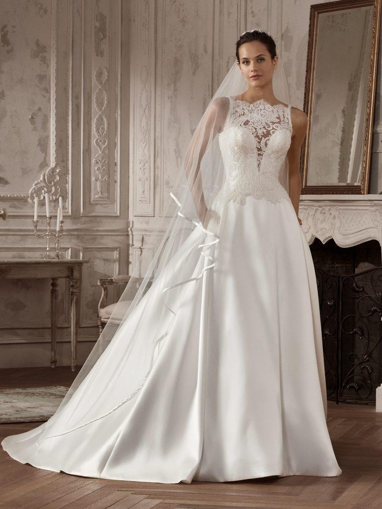 Vestidos de novia de crepe
